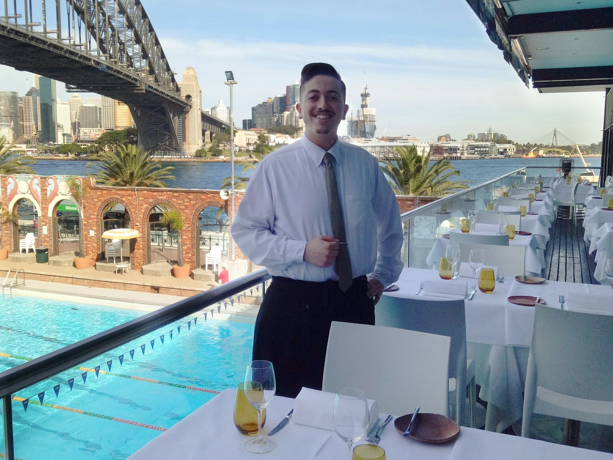 Issam Performing His Work Placement At Aqua Dining Pacific Training Group